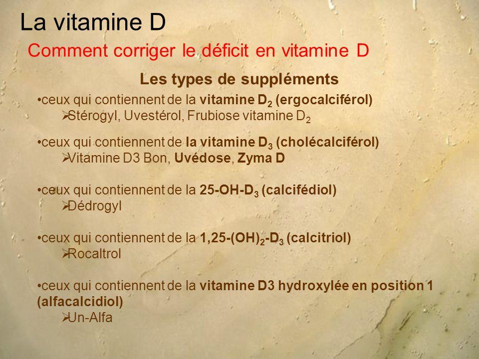 Les types de suppléments
