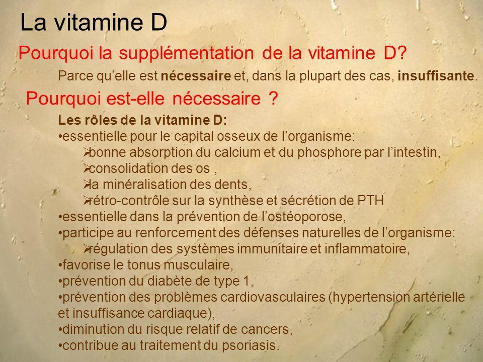 La vitamine D Pourquoi la supplémentation de la vitamine D