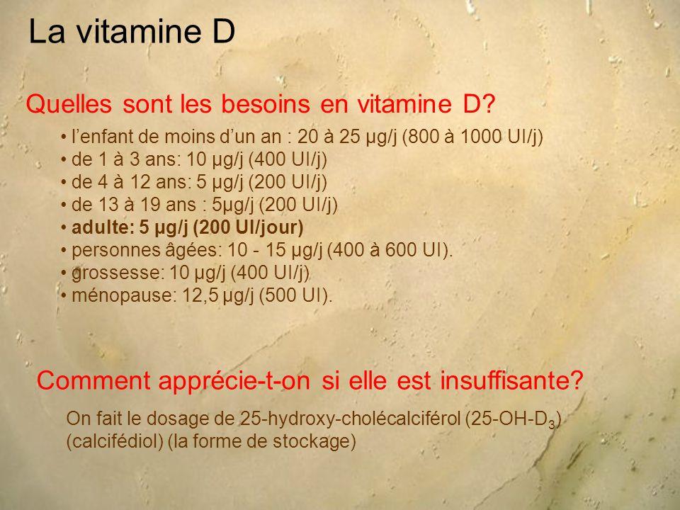 La vitamine D Quelles sont les besoins en vitamine D