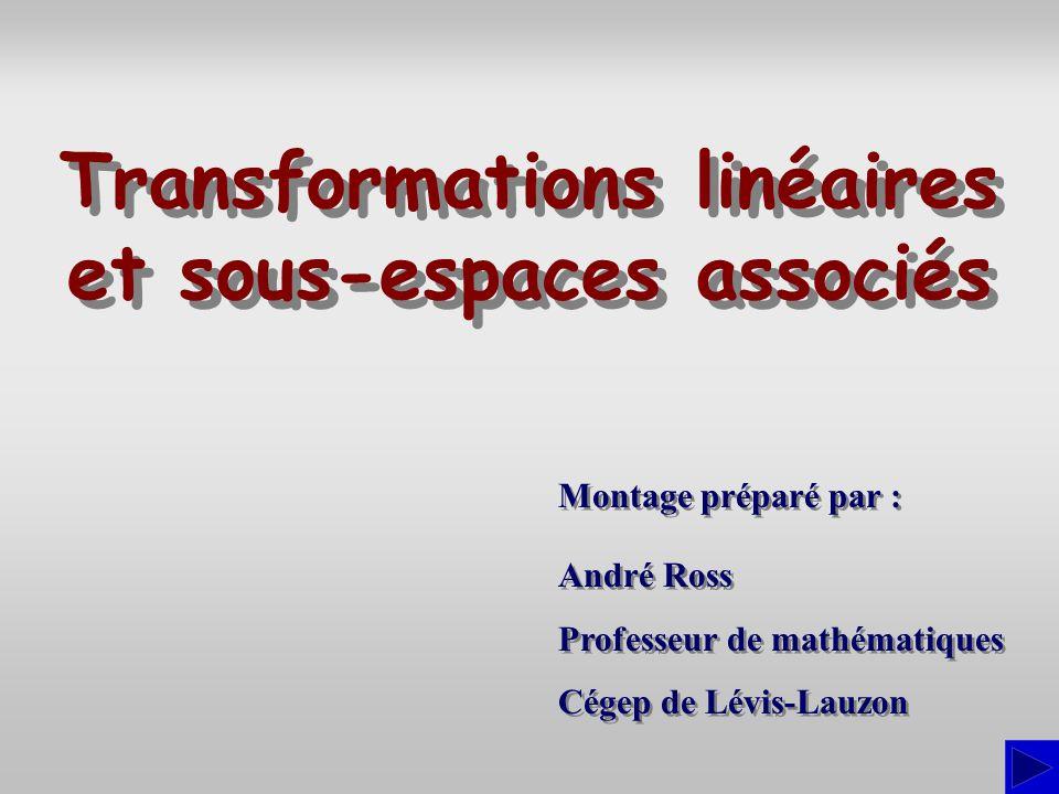 Transformations linéaires et sous-espaces associés