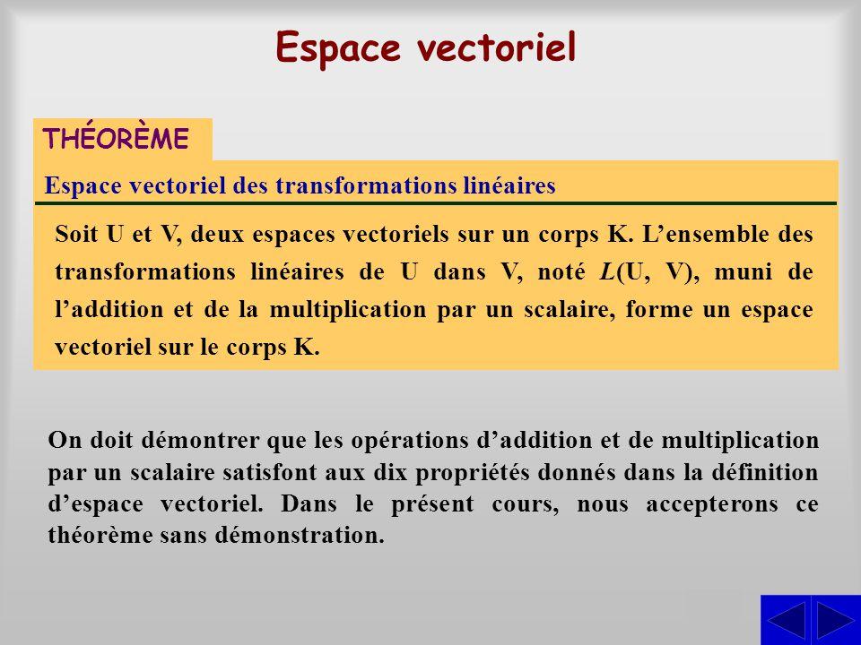 Espace vectoriel S THÉORÈME