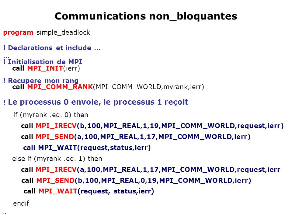 Communications non_bloquantes
