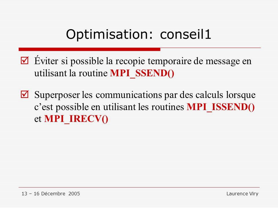 Optimisation: conseil1
