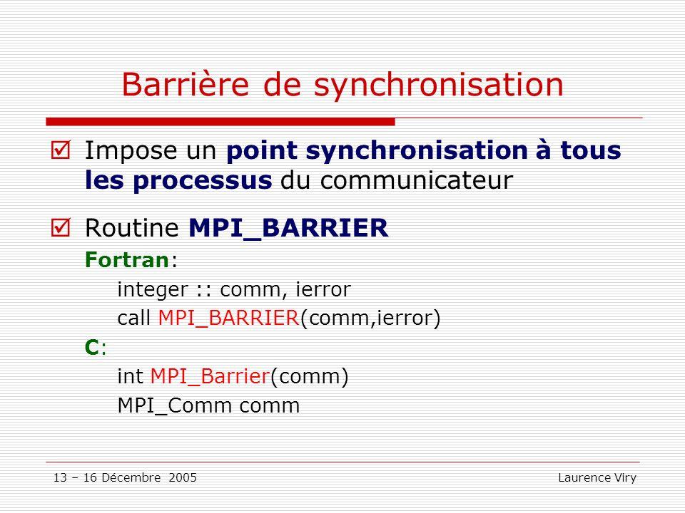 Barrière de synchronisation