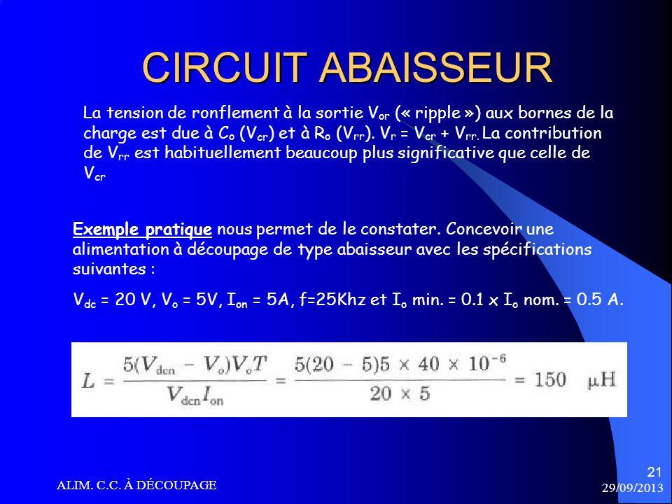 CIRCUIT ABAISSEUR