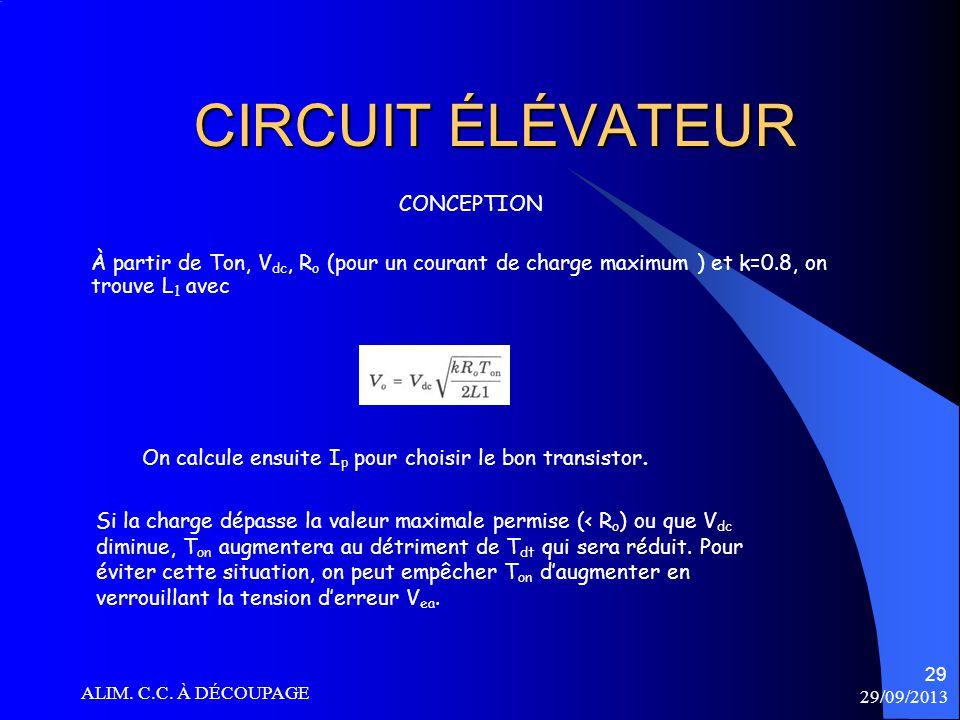 CIRCUIT ÉLÉVATEUR CONCEPTION