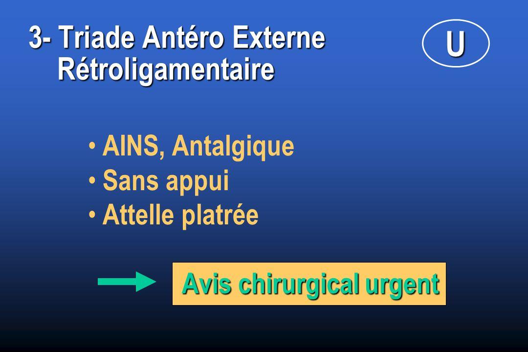 3- Triade Antéro Externe Rétroligamentaire