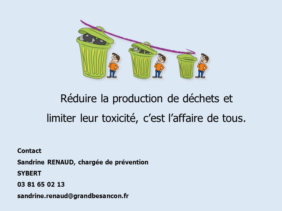 Réduire la production de déchets et