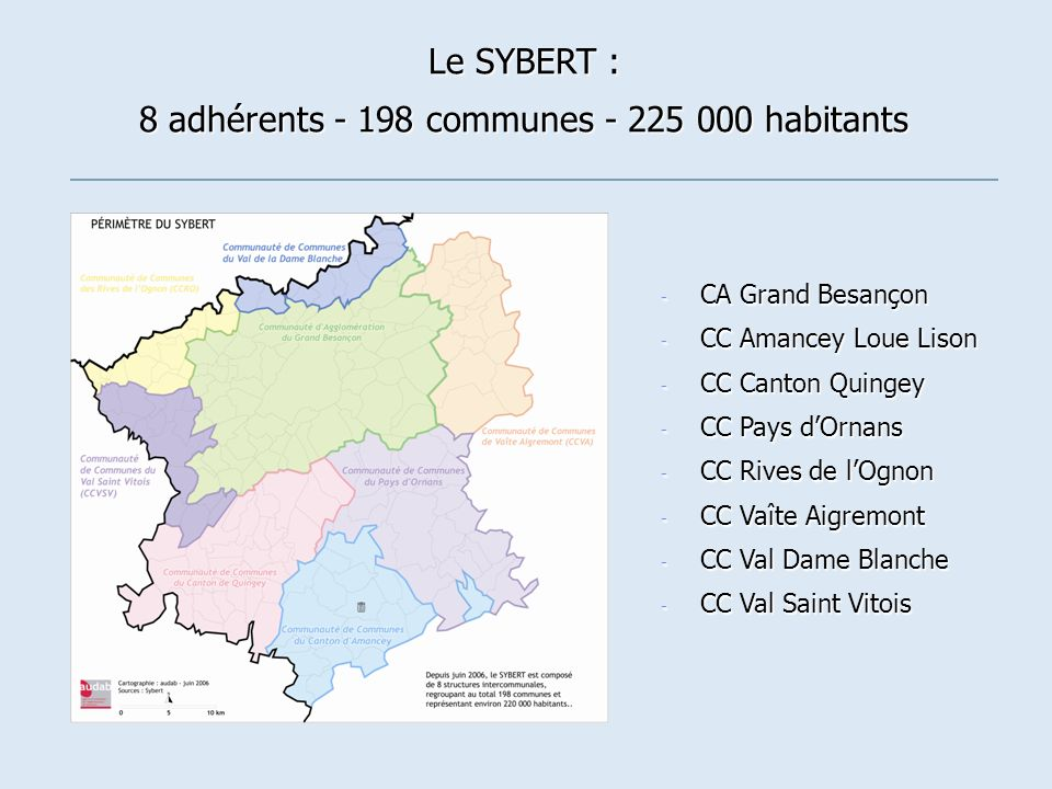 8 adhérents - 198 communes - 225 000 habitants