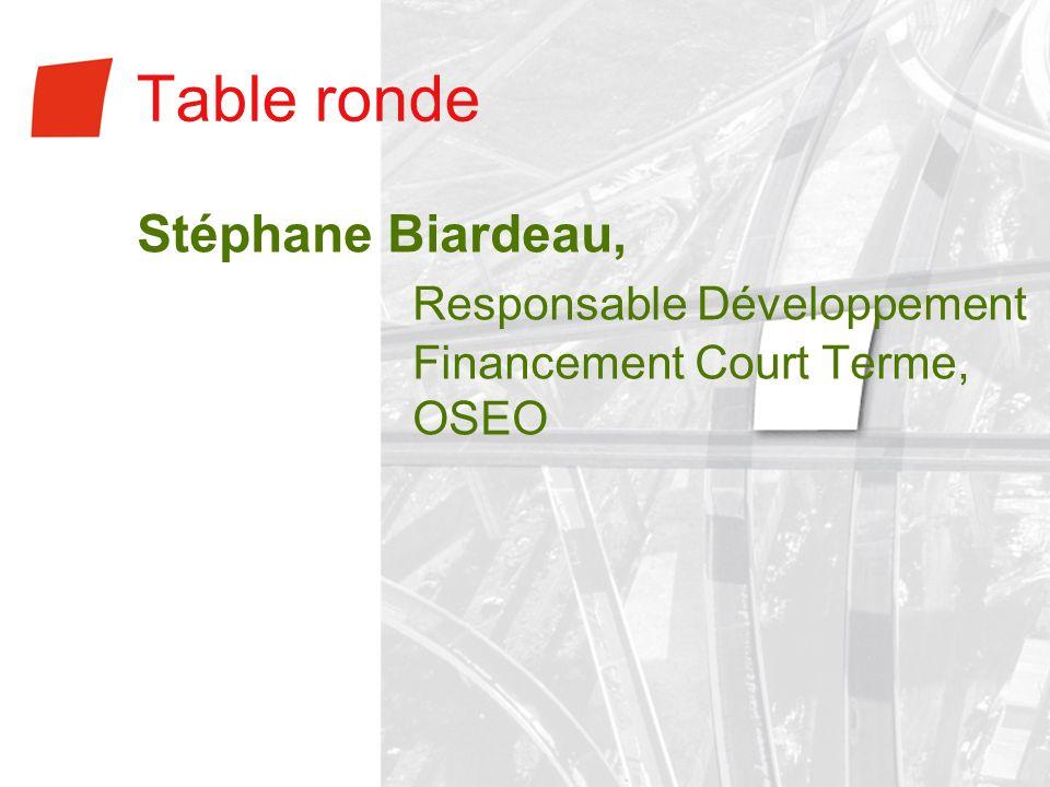 Table ronde Responsable Développement Financement Court Terme, OSEO