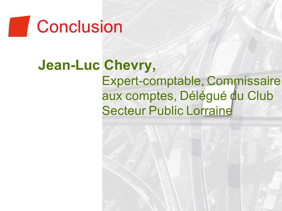 Conclusion Jean-Luc Chevry,
