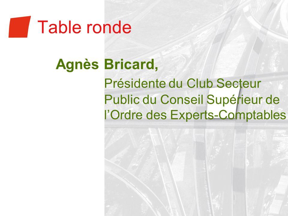 Table rondeAgnès Bricard, Présidente du Club Secteur Public du Conseil Supérieur de l'Ordre des Experts-Comptables.