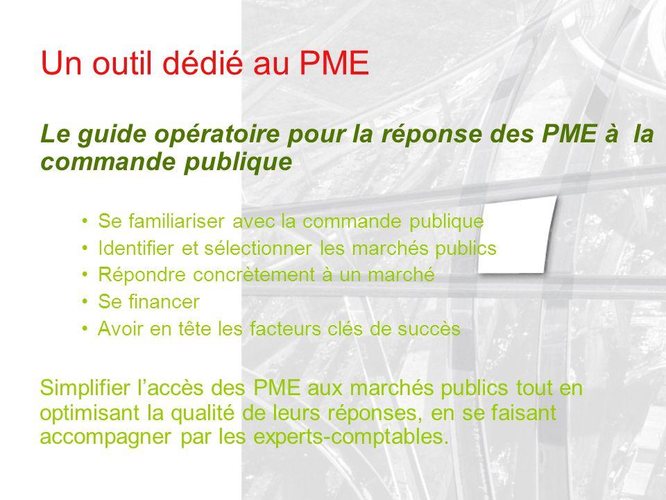 Un outil dédié au PME Le guide opératoire pour la réponse des PME à la commande publique. Se familiariser avec la commande publique.