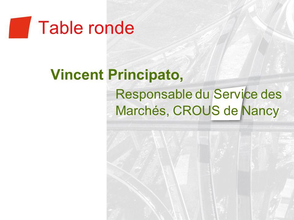 Table ronde Responsable du Service des Marchés, CROUS de Nancy