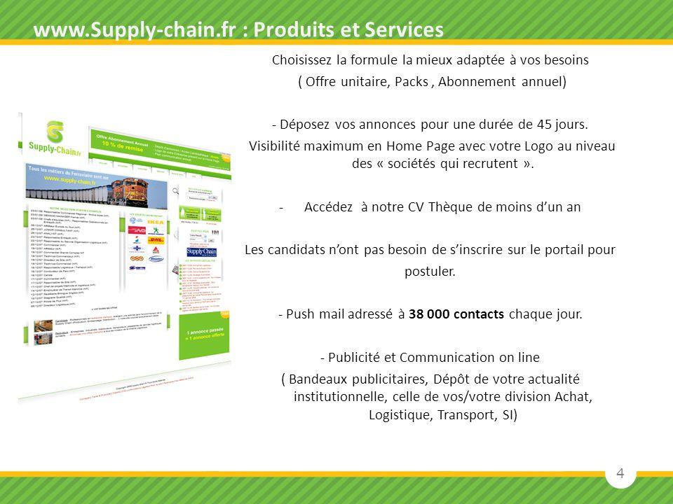 www.Supply-chain.fr : Produits et Services