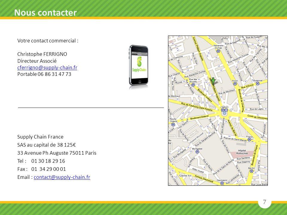 Nous contacter Votre contact commercial : Christophe FERRIGNO