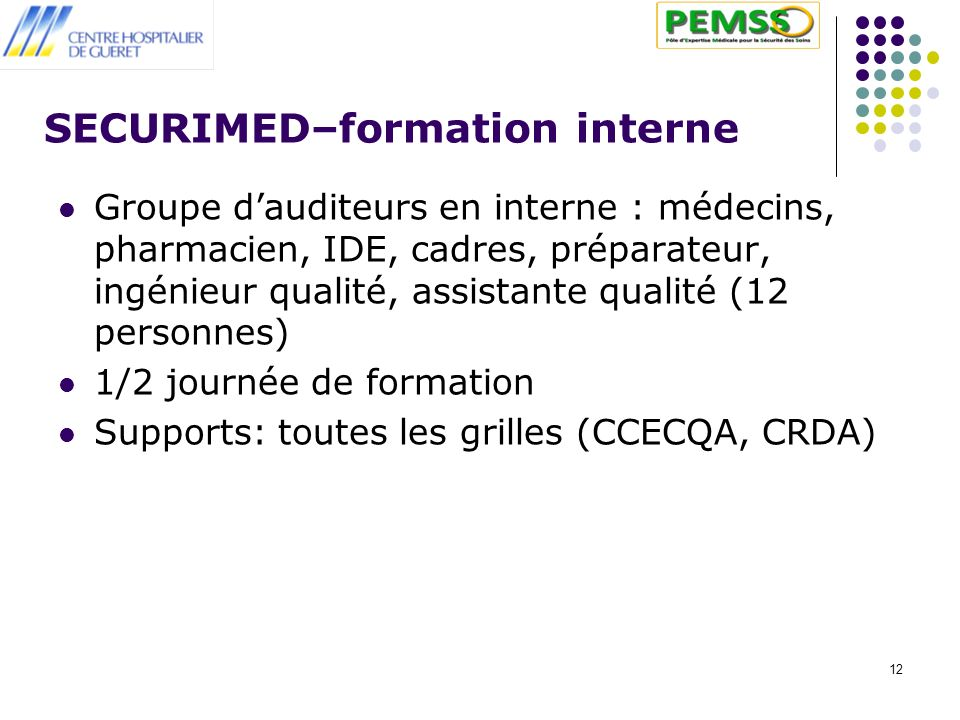 SECURIMED–formation interne