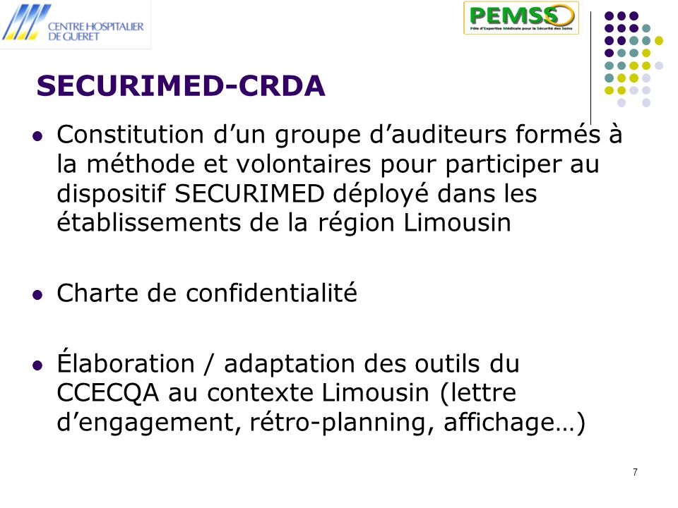 SECURIMED-CRDA