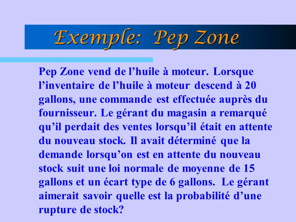Exemple: Pep Zone