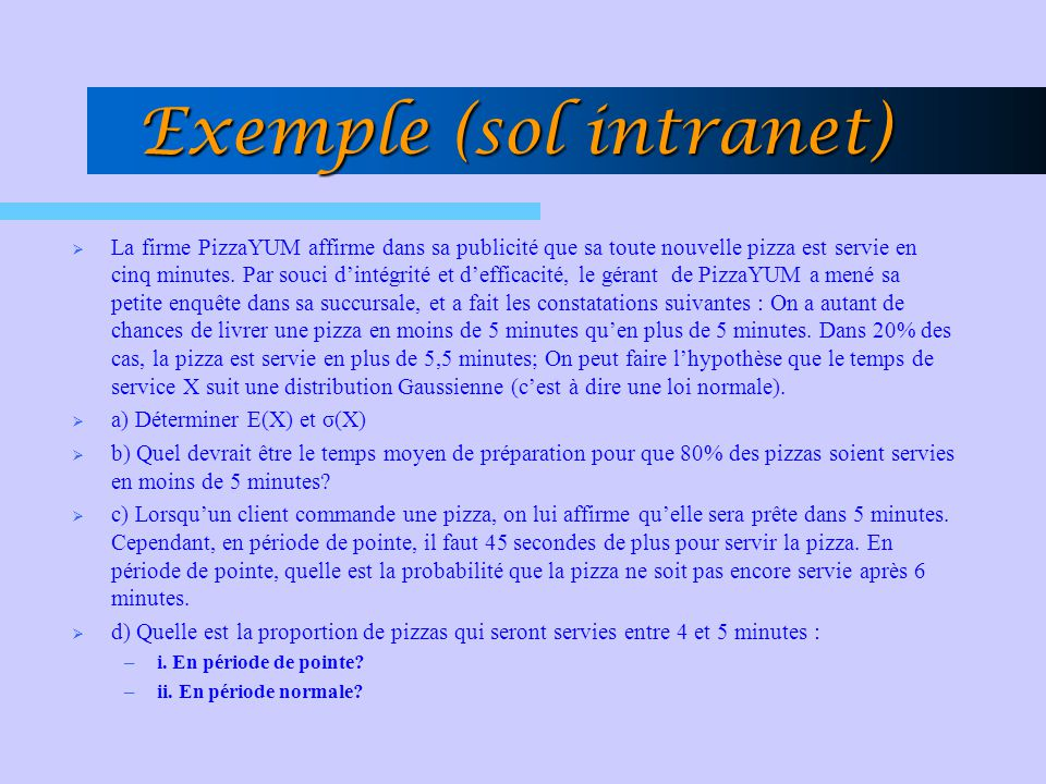 Exemple (sol intranet)