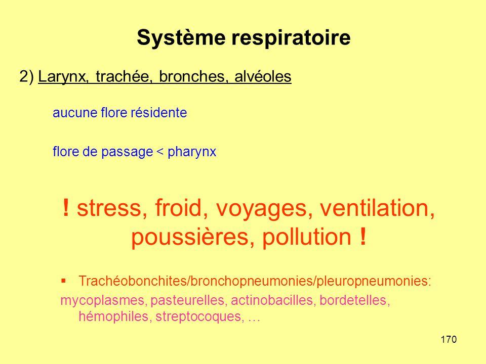 ! stress, froid, voyages, ventilation, poussières, pollution !