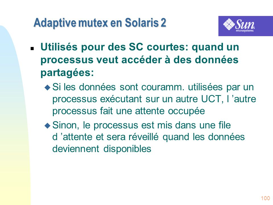 Adaptive mutex en Solaris 2