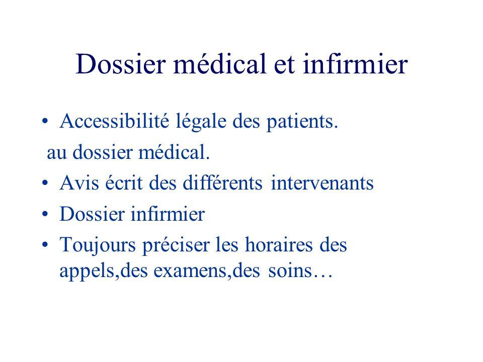 Dossier médical et infirmier