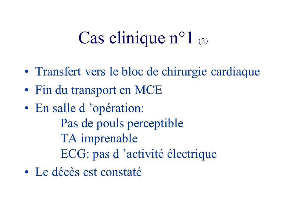 Cas clinique n°1 (2) Transfert vers le bloc de chirurgie cardiaque