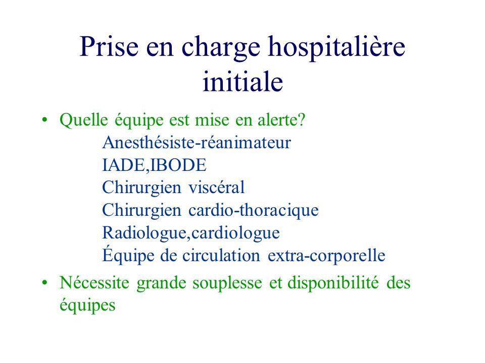 Prise en charge hospitalière initiale