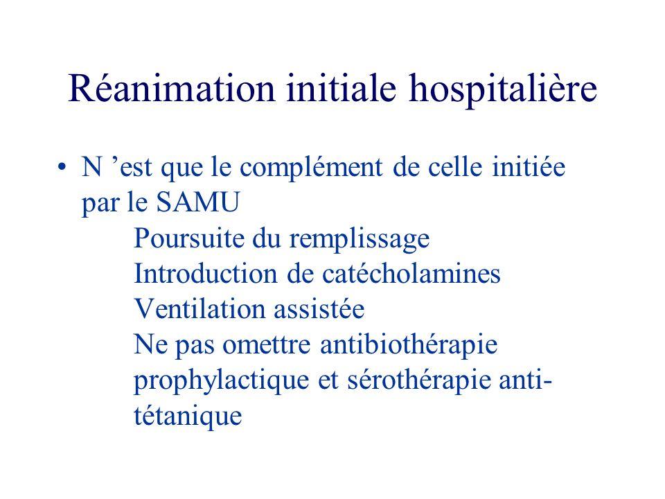 Réanimation initiale hospitalière