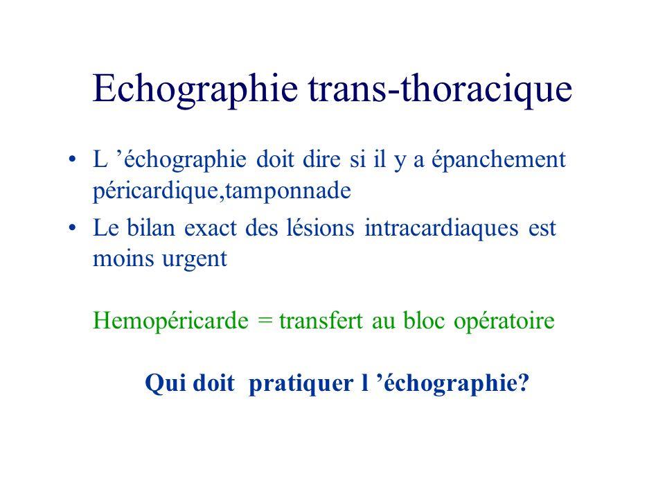 Echographie trans-thoracique