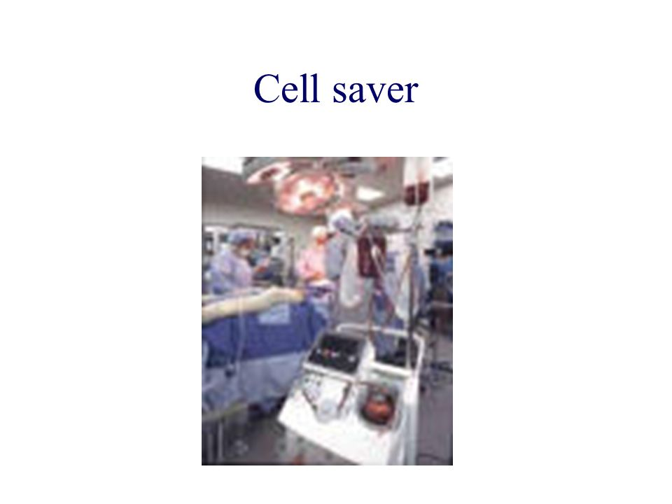 Cell saver