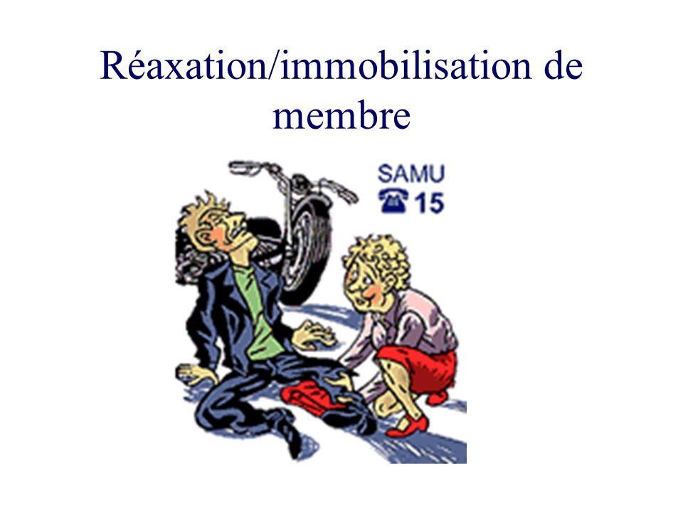 Réaxation/immobilisation de membre