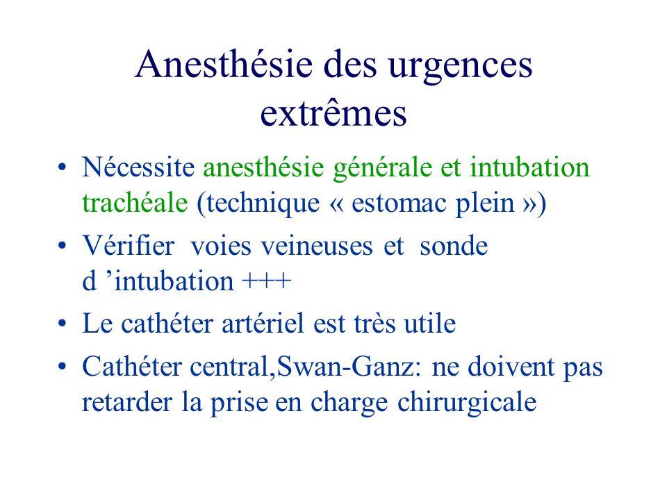 Anesthésie des urgences extrêmes