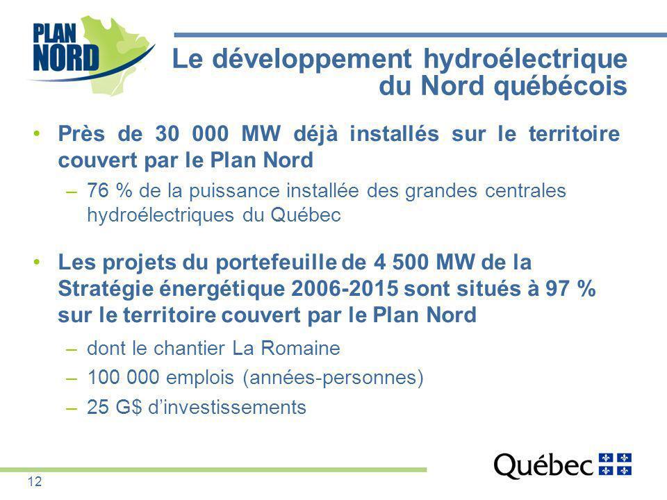 Le développement hydroélectrique du Nord québécois