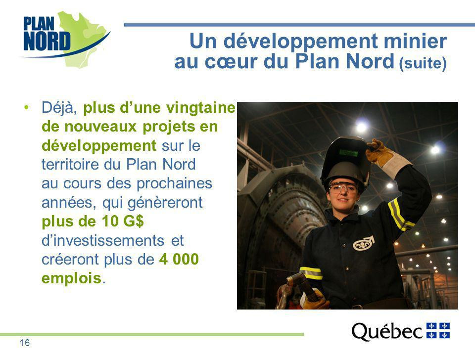 Un développement minier au cœur du Plan Nord (suite)