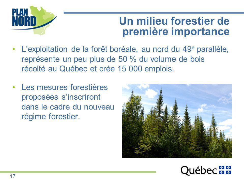 Un milieu forestier de première importance