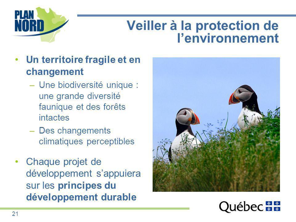 Veiller à la protection de l'environnement