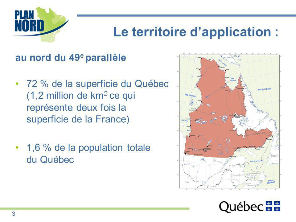 Le territoire d'application :
