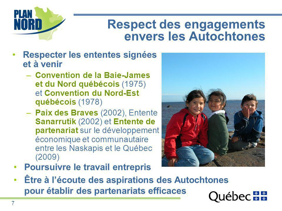 Respect des engagements envers les Autochtones