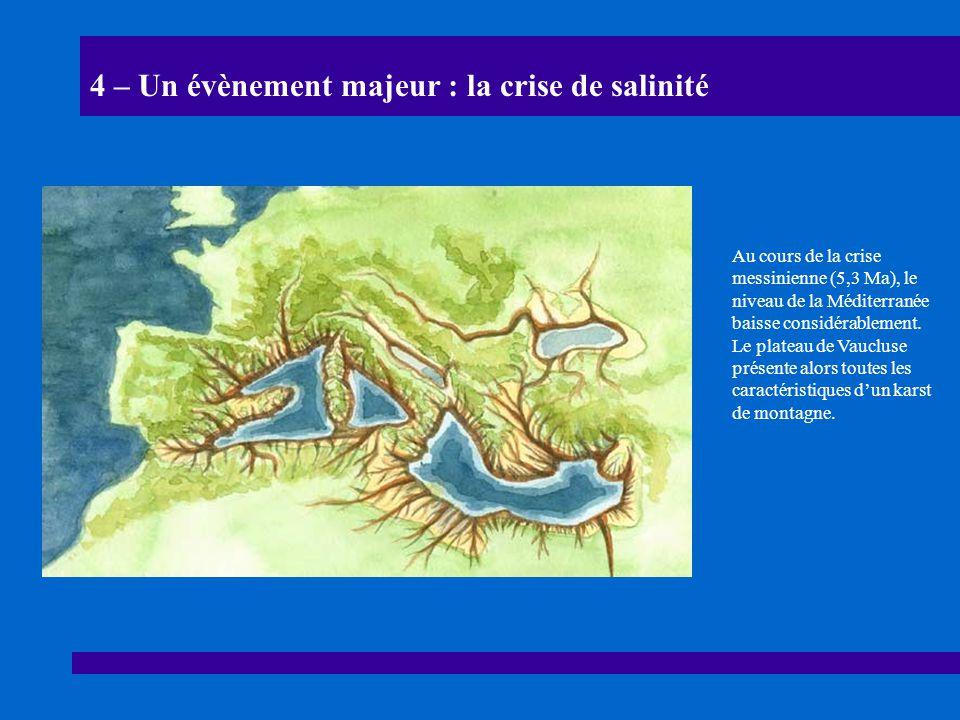 4 – Un évènement majeur : la crise de salinité