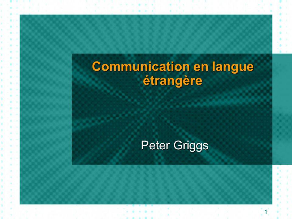 Communication en langue étrangère