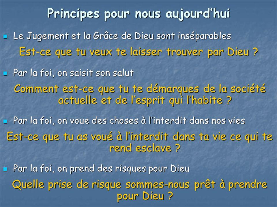Principes pour nous aujourd'hui