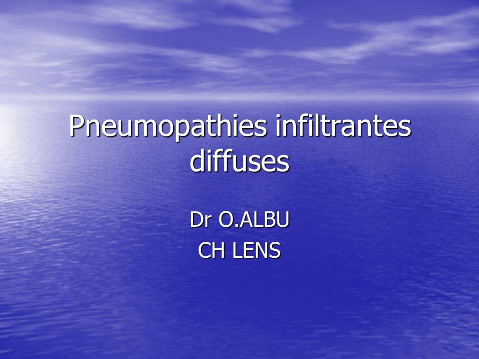 Pneumopathies infiltrantes diffuses