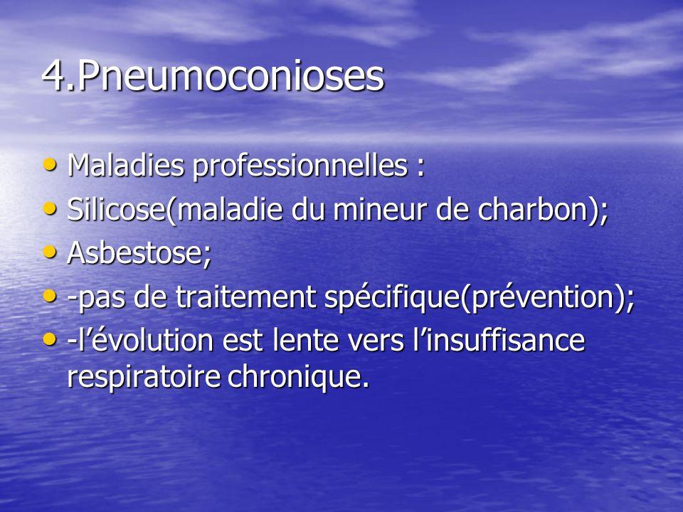 4.Pneumoconioses Maladies professionnelles :
