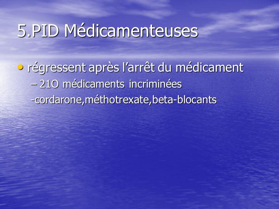 5.PID Médicamenteuses régressent après l'arrêt du médicament