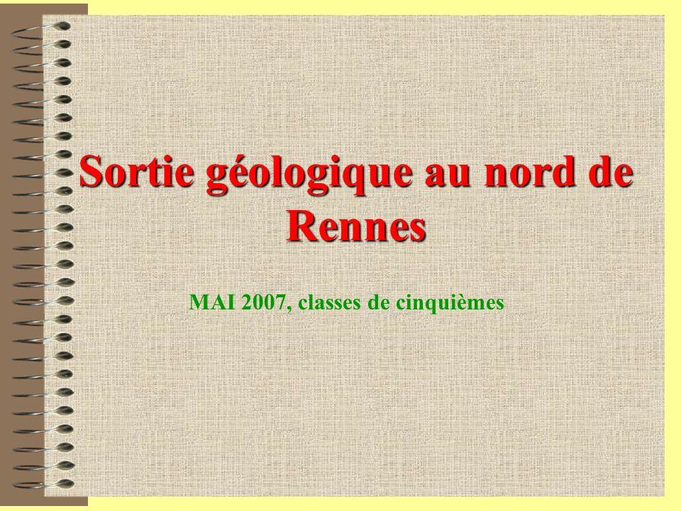 Sortie géologique au nord de Rennes