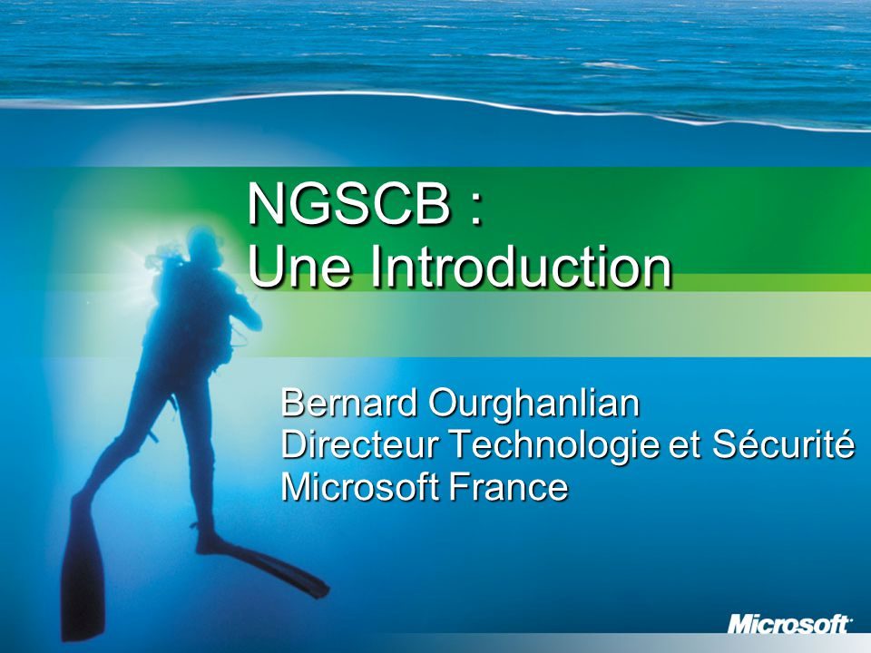 NGSCB : Une Introduction
