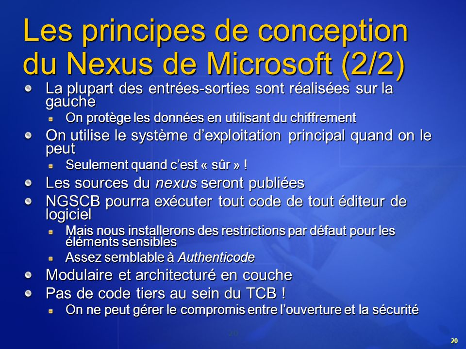 Les principes de conception du Nexus de Microsoft (2/2)