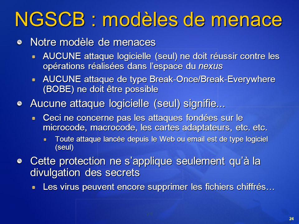 NGSCB : modèles de menace